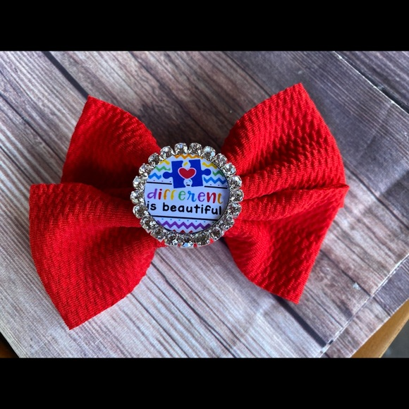 Different is beautiful hair bow